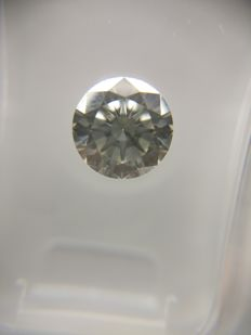 1.00 ct Round cut diamond F SI1    No Reserve Price