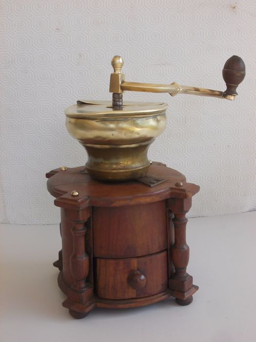 Antique Dutch mill made of cherry wood and bronze - the Netherlands - 1800