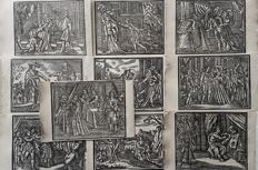 10 prints by an unknown artist (16th/17th century) - Love story's and other.. - 16th/17th century