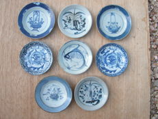 Lot of 8 small bowls - China - 19th century