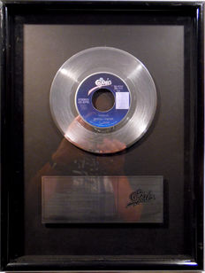 "Michael Jackson - Thriller - original US Epic Sales Music Record Award platinum 7"" single record"