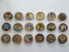 Europe - Coloured 2 Euro 2007/2015 (18 coins)