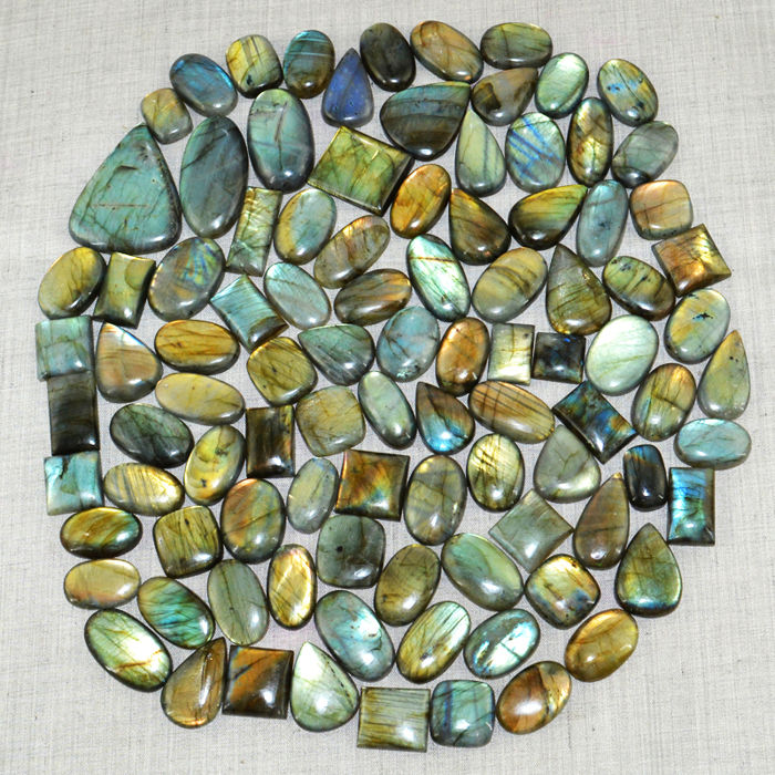 Large Labradorite lot - all color flashes - 4311 ct - (97pcs)