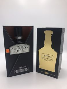 2 bottles - Jack Daniel's Single Barrel and Gentleman Jack in fold box 700ml