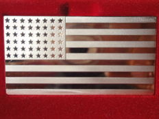 """Silver bar """"25th"""" U.S. Flag, Anno 1912"""" by Franklin Mint! LIMITED EDITION - ONLY 4892 pieces!!! 2.79 oz pure silver"""