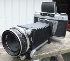 Camera Exa from Dresden from 1964 with light well + folding bellows