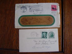 USA, 1900–'60. Collection of correspondence and stamps/tax perfins.