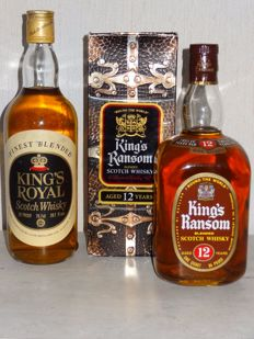 2 bottles - King's Ransom 12 years old & King's Royal - 1970's
