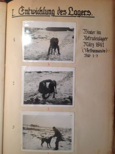 Photo album of a German soldier in 1941 (65 pages with 2 or 3 photos per page)