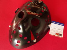 Friday the 13th - Jason Voorhees signed mask - signed by Jason Voorhees actor Ari Lehman from part 1