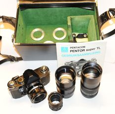 Pentor Super TL with 50mm - 135mm -200mm - macro rings - tele converter  - special 42mm bag