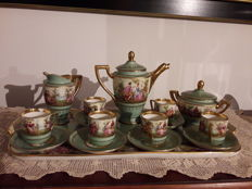 Vienna style porcelain set complete, decorated and painted