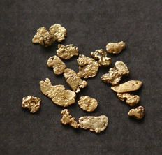 Gold Nuggets - Natural Alaskan Gold - 20/22 ct - 1 g (total)