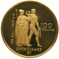 Canada - 100 Dollars 1976 'Olympic' - gold