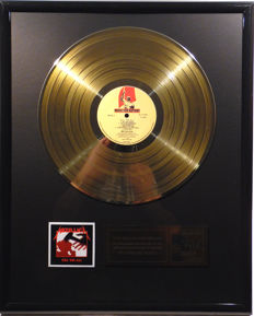 "Metallica - Kill 'Em All -  12"" Music for Nation record gold plated record by WWA Awards"
