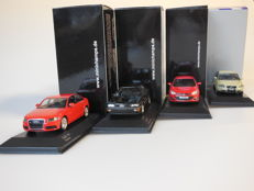 Minichamps - Scale 1/43 - Lot with 4 models: 2 x Audi, 1 x Opel & 1 x Volvo