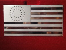 """Silver bar """"19TH. U.S. Flag, 1876"""" by Franklin Mint !!!!LIMITED EDITION - ONLY 4892 pieces!!!! 2.79 oz of pure silver"""