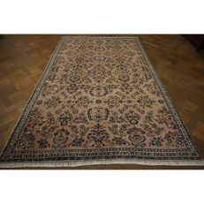 Elegant hand-knotted oriental carpet Indo US Sarough Design 290 x 190 cm Made in India professionally cleaned