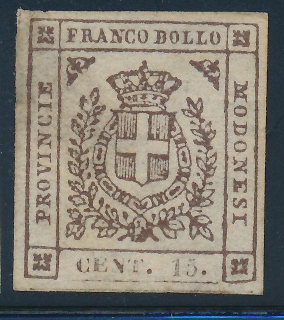 Modena 1859 - selection of stamps from Provisional Government period - Sass NN 12b, 13, 14, 16, 16a