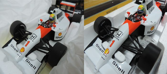 Minichamps - 1/18 Scale - 2 x McLaren Honda MP4/6 World Champion 1991 - Ayrton Senna