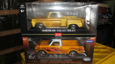 Highway 61 / Sun Star- Schaal 1/18 - Chevrolet Pick-Up 1965 C-10 Stepside & Chevrolet 1978 Fleetside