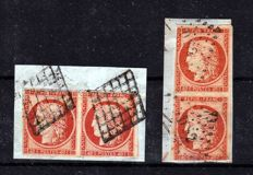 France 1850 – 2 pairs (horizontal and vertical) – Yvert 5
