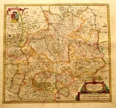 Germany, Hildesheim: J. Janssonius - Episcopatus Hildesiensis Descriptio Novissima Authore Ioanne Gigante D. Med. et Math - ca. 1647