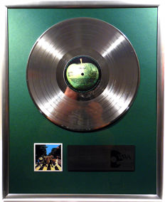 "The Beatles - Abbey Road - 12"" Apple Record platinum plated record by WWA Awards"