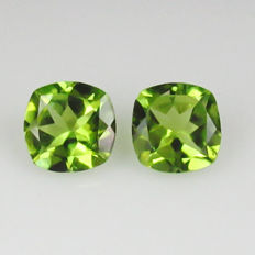 Peridot Pair - 2.67 Ct  total