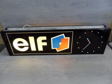ELF - Double sided Lightbox with Clock - 1970s - 101 x 28 x 13 cm