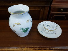 Herend lot vase and cup and saucer