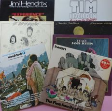 TWEN presents; Woodstock (3), The First Family of New Rock (2), plus a set of 5 albums by artists who played Woodstock; Santana, The Who, Jimi Hendrix, Tim Hardin and Janis Joplin