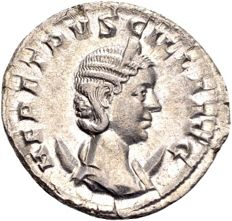 Roman Empire – Herennia Etruscilla, wife of Trajan Decius, 249–251, AR Antoninianus