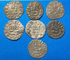 Italian Mints - Lot of 'denier tournois' coins - Very good state of preservation - 13th-14th Century