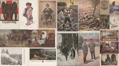 WWI - Germany - Lot of 18 illustrated postcards