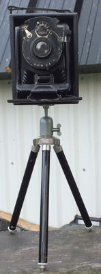 Old unknown camera with baseboard + STEINHEIL / ISING tripod