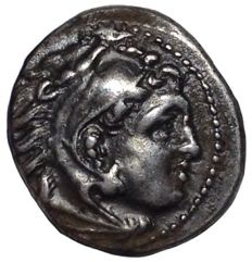 THe Greek Antiquity - Kings of Macedon - Alexander III the Great (336-323 BC) - AR Drachm (Silver, 17mm; 4,26g.) - Magnesia ad Meandrum mint, c. 325-323 BC - Head of Herakles / Zeus Aëtophoros - Müller 316