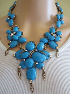 Oscar de la Renta exquisite  statement necklace USA