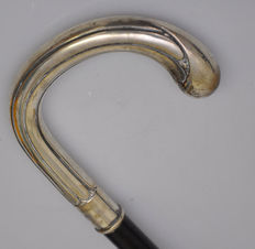 Art Nouveau walking stick with silver handle - Germany - year 1923