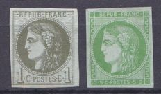 France 1870 - Yvert 39A and 42B