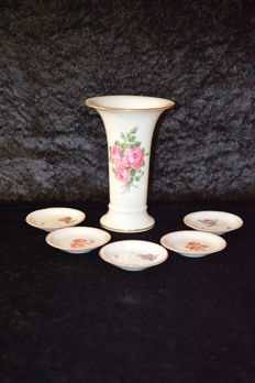 KPM Berlin vase and pastry plate
