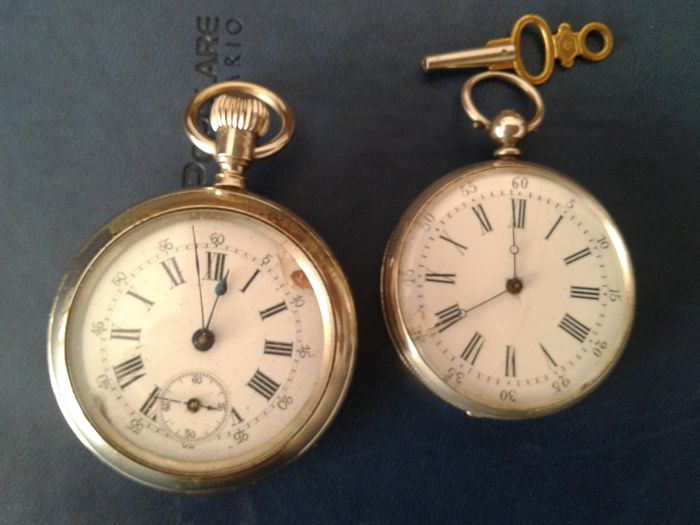 Two men's pocket watches 1850/1900 Geneva