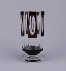 Val Saint Lambert - Art Deco cut crystal decorative vase