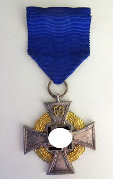 Service award - faithful service badge, special level for 50 years