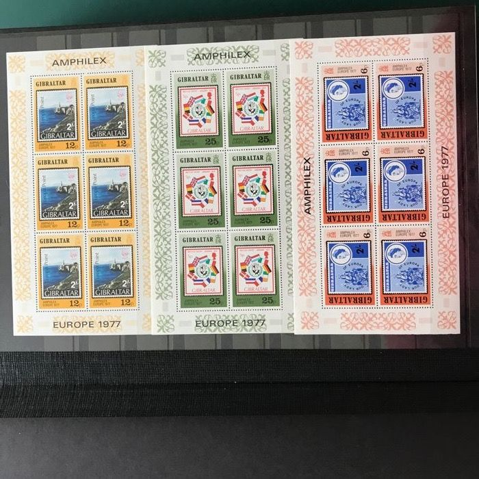 Europa Stamps - Collection with 100 blocks and sheets