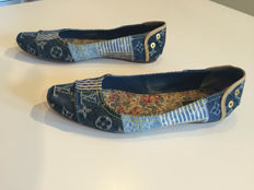 Louis Vuitton flats denim patchwork