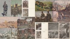 WWI - Germany - Lot of 14 illustrated postcards