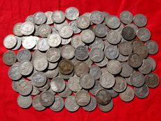 Spain - Lot of 112 silver coins - 2 pesetas - Provisional government (48), Alfonso XII (59) and Alfonso XIII (5) - 1120 grams