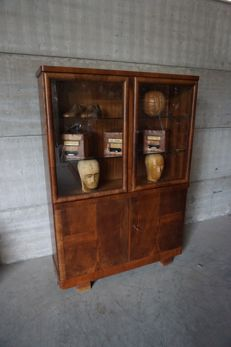 Art Deco Walnut Doctor's Cabinet