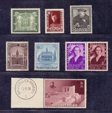 Belgium 1930/1938 – Stamps from blocks OBP BL 2 through 8
